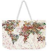 Watercolor Splashes World Map 2 Weekender Tote Bag