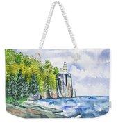 Watercolor - Split Rock Lighthouse Weekender Tote Bag
