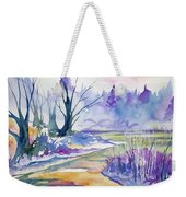 Watercolor - Stream And Forest Weekender Tote Bag