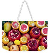 Watercolor Superfood Combo Weekender Tote Bag by Celestial Images