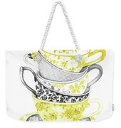 Watercolor Teacups-c Weekender Tote Bag