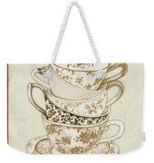 Watercolor Teacups-e Weekender Tote Bag