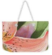 Watercolor Tiger Lily Dance Of Petals Close Up  Weekender Tote Bag