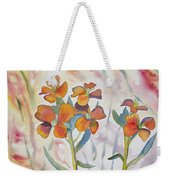 Watercolor - Wallflower Wildflowers Weekender Tote Bag