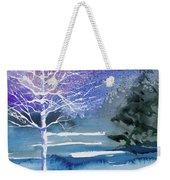 Watercolor - Winter Aspen Weekender Tote Bag