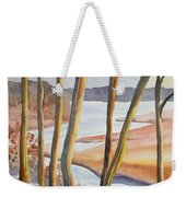 Watercolor - Winter Sunrise Weekender Tote Bag