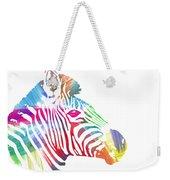 Watercolor Zebra Weekender Tote Bag