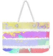 Watercolour Abstract Strips Weekender Tote Bag
