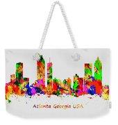 Watercolour Art Print Of The Skyline Of Atlanta Georgia Usa Weekender Tote Bag