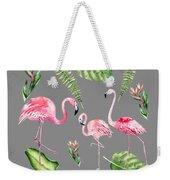 Watercolour Flamingo Family Weekender Tote Bag