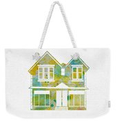 Watercolour House Weekender Tote Bag