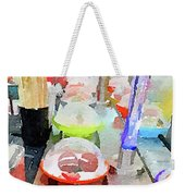 Watercolour Painting Of Sushi Dishes On The Belt Weekender Tote Bag