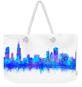 Watercolour Splashes And Dripping Effect Chicago Skyline Weekender Tote Bag