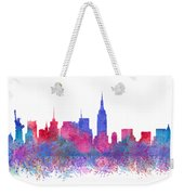 Watercolour Splashes New York City Skylines Weekender Tote Bag