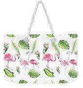 Watercolour Tropical Beauty Flamingo Family Weekender Tote Bag