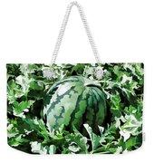 Waterelons In A Vegetable Garden Weekender Tote Bag