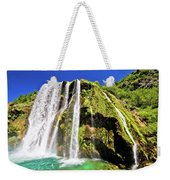 Waterfal Krcic In Knin Turquoise Stream Weekender Tote Bag