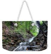 Waterfall And Natural Gas Weekender Tote Bag