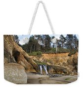 Waterfall At Hug Point State Park Oregon Weekender Tote Bag