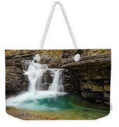 Waterfall At Johnston Canyon Weekender Tote Bag