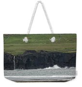 Waterfall At The Cliffs Of Moher Weekender Tote Bag