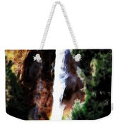 Waterfall At Yosemite Weekender Tote Bag