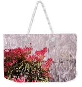 Waterfall Flowers Weekender Tote Bag