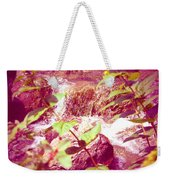 Waterfall Garden Pink Falls Weekender Tote Bag