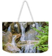 Waterfall In The Vandusen Botanical Garden 1 Weekender Tote Bag