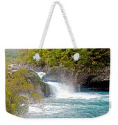 Waterfall In Vicente Perez Rosales National Park Near Puerto Montt-chile  Weekender Tote Bag