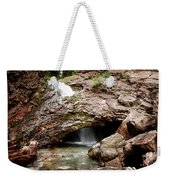 Waterfall Into A Cave Weekender Tote Bag