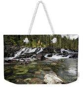 Waterfall Mcdonald Creek Weekender Tote Bag