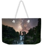 Waterfall Milky Way  Weekender Tote Bag