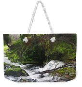 Waterfall Near Tallybont-on-usk Wales Weekender Tote Bag