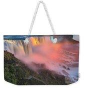 Waterfall Night Lights Weekender Tote Bag