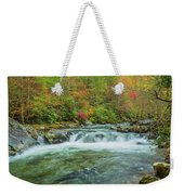 Waterfall On Little Pigeon River Smoky Mountains Weekender Tote Bag