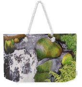 Waterfall On Skye Weekender Tote Bag