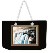 Waterfall Scene For Mia Parker - Sutcliffe L A S With Decorative Ornate Printed Frame.  Weekender Tote Bag