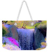 Waterfall Spring Colors Weekender Tote Bag