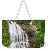 Waterfall With Green Leaves Weekender Tote Bag