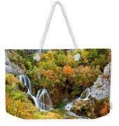 Waterfalls In Plitvice Lakes National Park Weekender Tote Bag