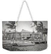 Waterfront Cottages At Parmer's Resort In Keys Weekender Tote Bag