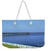 Waterfront Pier Weekender Tote Bag