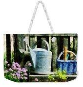 Watering Can And Blue Basket Weekender Tote Bag