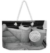 Watering Cans And Tubs B  W Weekender Tote Bag