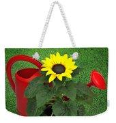 Watering With Sunflower Weekender Tote Bag
