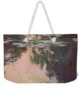 Waterlilies With Weeping Willows Weekender Tote Bag by Claude Monet