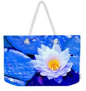 Blue Water Lily Weekender Tote Bag