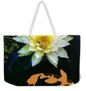 Waterlily And Koi Pond Weekender Tote Bag