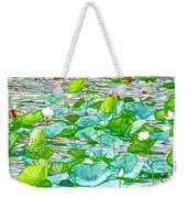 Waterlily Blossoms On The Protected Forest Lake Weekender Tote Bag